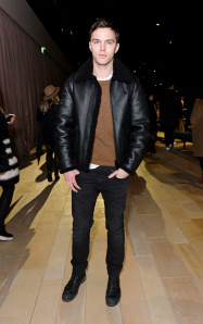 LONDON, ENGLAND - FEBRUARY 22:  Nicholas Hoult wearing Burberry at the Burberry Womenswear February 2016 Show at Kensington Gardens on February 22, 2016 in London, England.  (Photo by David M. Benett/Dave Benett/Getty Images for Burberry) *** Local Caption *** Nicholas Hoult