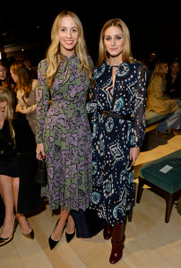 LONDON, ENGLAND - FEBRUARY 22:  Harley Viera Newton (L) and Olivia Palermo wearing Burberry at the Burberry Womenswear February 2016 Show at Kensington Gardens on February 22, 2016 in London, England.  (Photo by David M. Benett/Dave Benett/Getty Images for Burberry) *** Local Caption *** Harley Viera Newton; Olivia Palermo