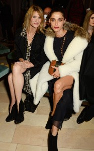 LONDON, ENGLAND - FEBRUARY 22:  Laura Dern (L) and Elisa Sednaoui wearing Burberry at the Burberry Womenswear February 2016 Show at Kensington Gardens on February 22, 2016 in London, England.  (Photo by David M. Benett/Dave Benett/Getty Images for Burberry) *** Local Caption *** Laura Dern; Elisa Sednaoui