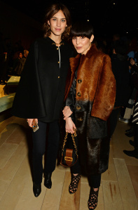 LONDON, ENGLAND - FEBRUARY 22:  Alexa Chung (L) and Noomi Rapace wearing Burberry at the Burberry Womenswear February 2016 Show at Kensington Gardens on February 22, 2016 in London, England.  (Photo by David M. Benett/Dave Benett/Getty Images for Burberry) *** Local Caption *** Alexa Chung; Noomi Rapace