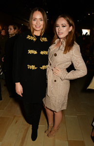 LONDON, ENGLAND - FEBRUARY 22:  Laura Haddock (L) and Tanya Burr wearing Burberry at the Burberry Womenswear February 2016 Show at Kensington Gardens on February 22, 2016 in London, England.  (Photo by David M. Benett/Dave Benett/Getty Images for Burberry) *** Local Caption *** Laura Haddock; Tanya Burr