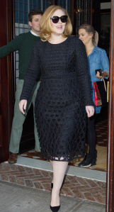 Mandatory Credit: Photo by Startraks Photo/REX Shutterstock (5371774d) Adele Adele out and about, New York, America - 16 Nov 2015 Adele Greets Fans Outside of her New York Hotel