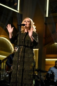 """SATURDAY NIGHT LIVE -- """"Matthew McConaughey"""" Episode 1689 -- Pictured: Musical guest Adele performs on November 21, 2015 -- (Photo by: Dana Edelson/NBC/NBCU Photo Bank)"""