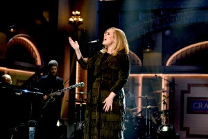 """SATURDAY NIGHT LIVE -- """"Matthew McConaughey"""" Episode 1689 -- Pictured: Musical guest Adele performs on November 21, 2015 -- (Photo by: Dana Edelson/NBC/NBCU Photo Bank via Getty Images)"""